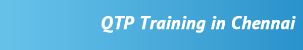 Best QTP Training In Chennai